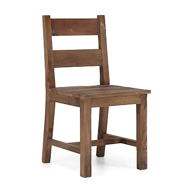 Zuo® Fir Wood Lincoln Park Chair, Distressed Natural