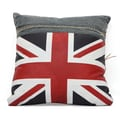 Zuo® Blue Denim Cowboy Cushion With UK Flag