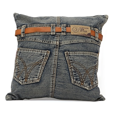 Zuo® Blue Denim Jean Cushions