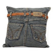 Zuo® Blue Denim Jean Cushion With Back Jean