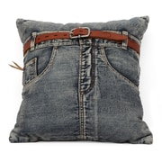 Zuo® Blue Denim Jean Cushion With Front Jean