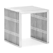 Zuo® Metal Novel Single Bench, Stainless Steel
