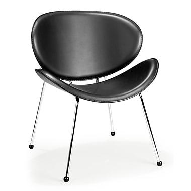 ZuoMD – Chaises longue assorties en similicuir, noir