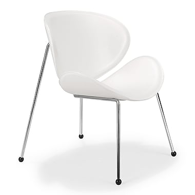 Zuo® Match Leatherette Lounge Chairs, White