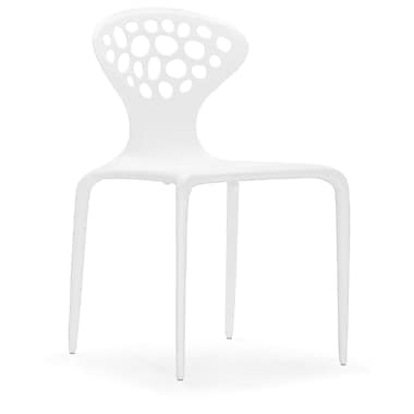 Zuo® Marzipan Polypropylene Dining Chairs, White