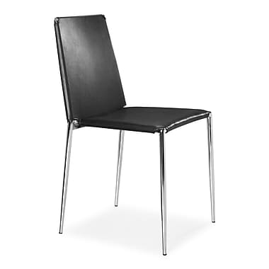 Zuo Alex Leatherette Dining Chairs, Black