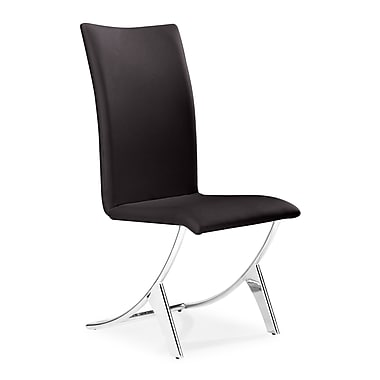 Zuo Delfin Leatherette Dining Chairs, Espresso