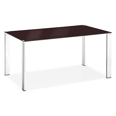 Zuo® 29 1/2in. x 59in. x 35 1/2in. Tempered Glass Slim Dining Table, Espresso