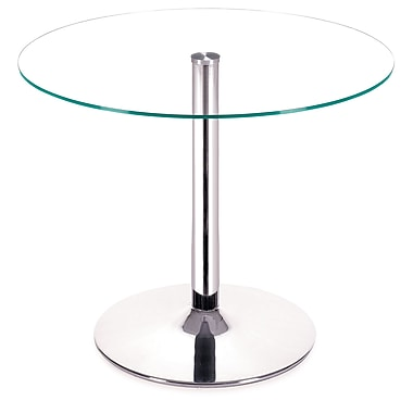 Zuo® Galaxy 39in. Tempered Glass Dining Table, Clear