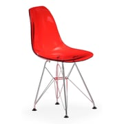 Zuo® Acrylic Baby Spire Chair, Transparent Red