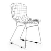 Zuo® Steel Baby Wire Chairs, Chrome