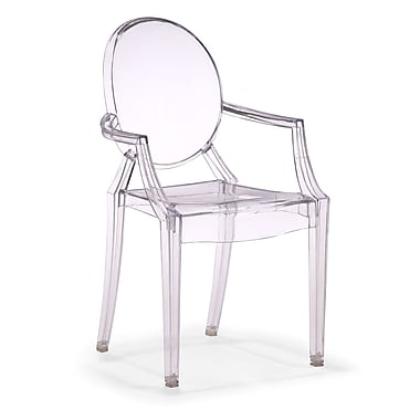Zuo® Polycarbonate Baby Anime Chairs, Transparent