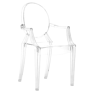 Zuo® Anime Polycarbonate Dining Chairs, Transparent