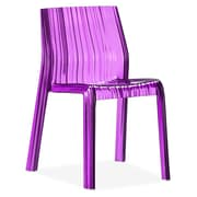 Zuo® Ruffle Polycarbonate Dining Chairs, Transparent Purple