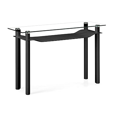 Zuo® 47in. x 15 1/2in. Tempered Glass Tier Console Table, Black