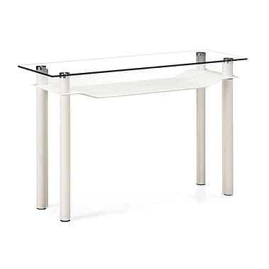 Zuo® 47in. x 15 1/2in. Tempered Glass Tier Console Table, White