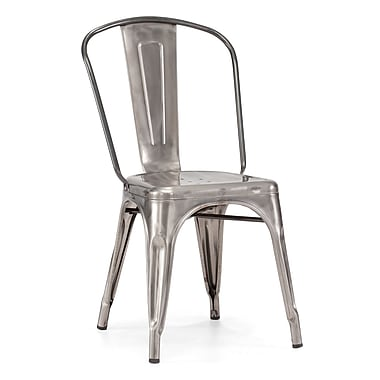 Zuo® Steel Elio Chairs, Gunmetal