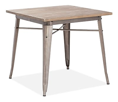 """""Zuo Titus 31.4"""""""" x 31.4"""""""" Elm Wood Dining Table, Rustic Wood"""""" 223148"