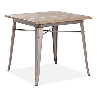Zuo® Titus 31.4in. x 31.4in. Elm Wood Dining Table, Rustic Wood