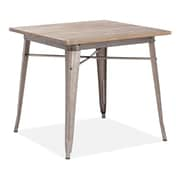 "Zuo® Titus 31.4"" x 31.4"" Elm Wood Dining Table, Rustic Wood"