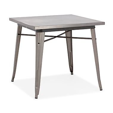 Zuo® Olympia 31.4in. x 31.4in. Steel Dining Table, Gunmetal