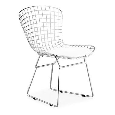 Zuo® Leatherette Wire Dining Chairs, Chrome