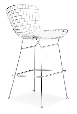 Zuo Leatherette Wire Bar Chairs, Chrome 223177