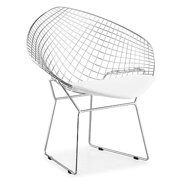 Zuo Net Leatherette Dining Chairs, White