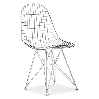 Zuo® Solid Steel Mesh Dining Chairs, Chrome Frame
