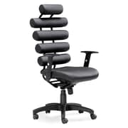 Zuo® Leatherette Unico Office Chair, Black