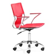 Zuo® Leatherette Trafico Office Chair, Red