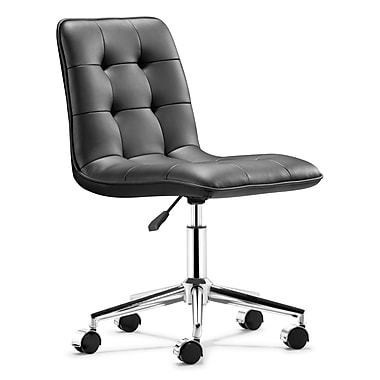 Zuo® Leatherette Scout Office Chair, Black
