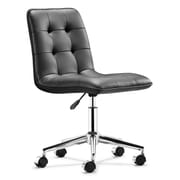 Zuo 205770 Scout Leatherette Armless Executive Chair, Black