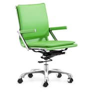 Zuo® Leatherette Lider Plus Office Chair, Green