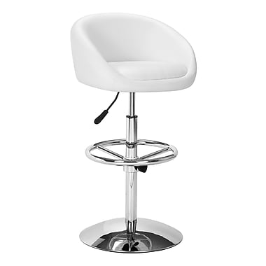 Zuo Leatherette Concerto Barstool, White