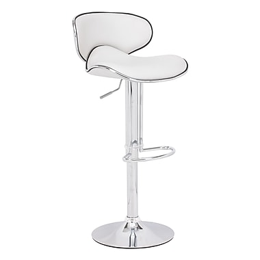 Zuo® Leatherette Fly Barstool, White