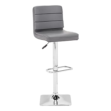 Zuo® Leatherette Variance Barstool, Gray