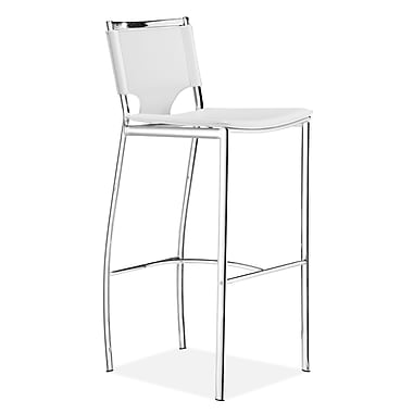 Zuo® Leatherette Lark Bar Chairs, White