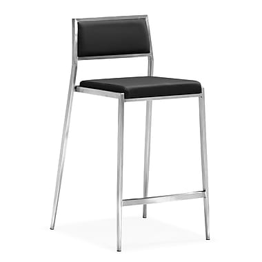 Zuo® Leatherette Dolemite Counter Chairs, Black