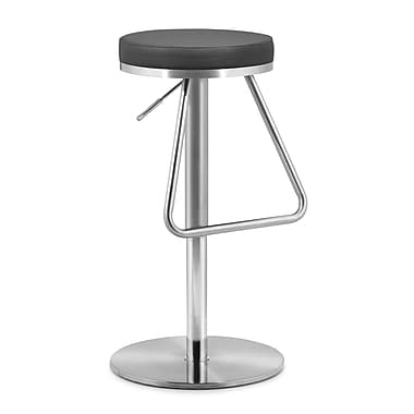Zuo Leatherette Soda Barstool, Black