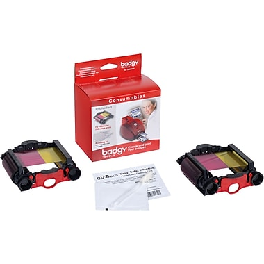 Evolis Badgy 2 Color Ribbons and Cleaner