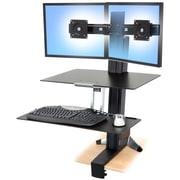 "ERGOTRON® Up To 25 lbs. 22"" LCD Monitor Dual Display WorkFit-S Sit-Stand Workstation"