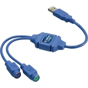 "TRENDnet® 13"" USB To PS/2 Converter, Blue"