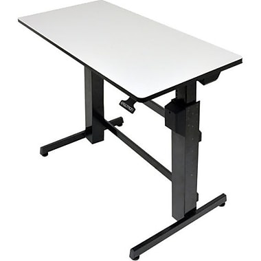 Ergotron® WorkFit-D Sit-Stand Desk, Light Gray