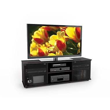 Sonax® Fiji 60in. Glass TV/Component Bench, Ravenwood Black