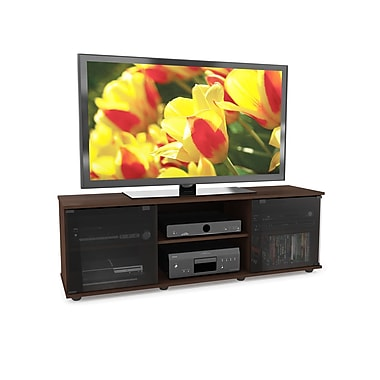 Sonax® Fiji 60in. Wood/Veneer TV/Component Bench, Dark Espresso