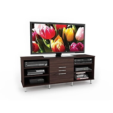 Sonax® Sedona 60in. TV/Component Bench with Sliding Door, Ebony Pecan