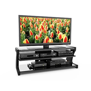 Sonax® Sonoma 60in. Wood/Veneer TV Stand with Two Shelves, Midnight Black Lacquer