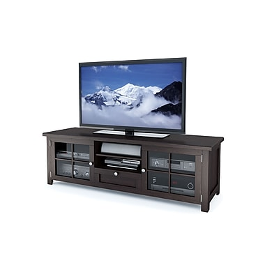 Sonax® Arbutus 63.5in. Wood/Veneer TV Bench, Dark Black