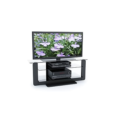 Sonax® Atlantic 52in. Wood/Veneer TV Stand with Glass Shelves, Midnight Black